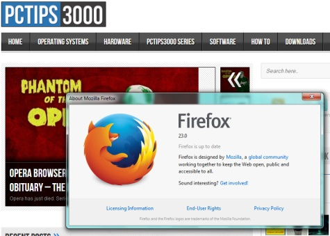 What's new in Firefox 23?