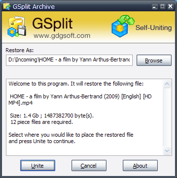 Split Large File GSplit IV