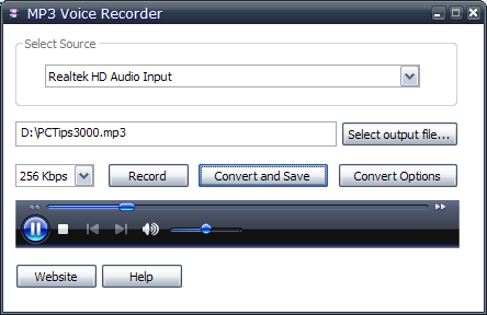 Voice Recording Software MP3 Voice Recorder I